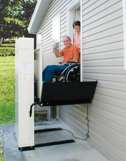 Senior Harmar handicapped wheel chair lift mobility