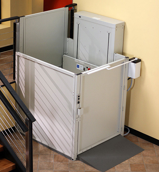 american disabilities act wheelchair elevator vertical platform porchlift vpl3200