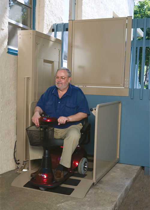 10 feet 2nd store wheelchair vertical platform lifts