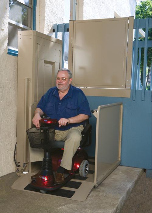 10 feet 2nd store wheelchair vertical platform lifts